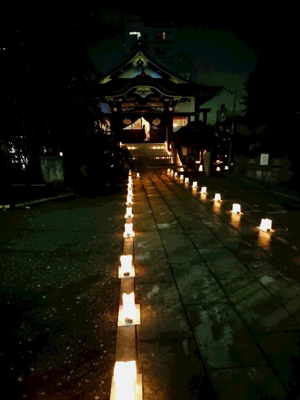 観月会 福傳寺夜景